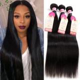 300g/3bundles Peruvian virgin straight hair 18inches