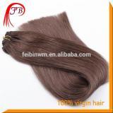 Hot Sale Human Virgin Color #2 Straight Hair Weft Russian 100% Human Hair Tangle Free