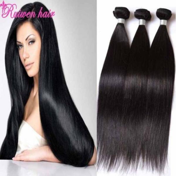 Virgin Brazilian Hair Extensions 3 Bundles 150g Human Hair Weave 8A Unprocessed #1 image