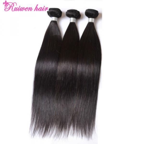 Virgin Brazilian Hair Extensions 3 Bundles 150g Human Hair Weave 8A Unprocessed #4 image