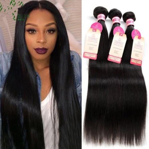 300g/3bundles Peruvian virgin straight hair 18inches #1 image