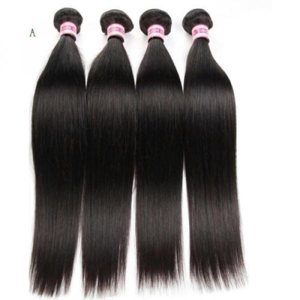 300g/3bundles Peruvian virgin straight hair 18inches #2 image
