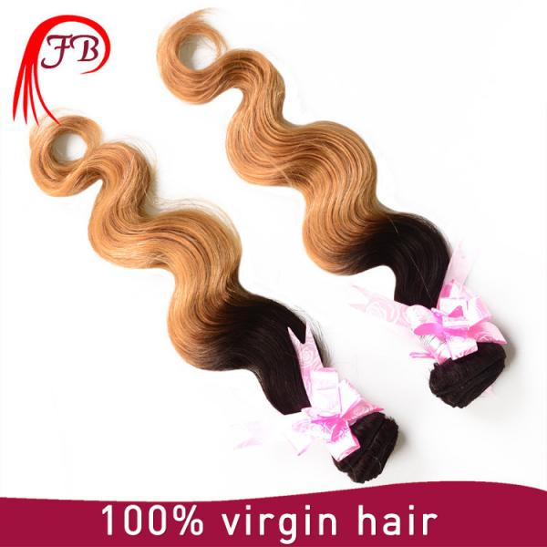Brazilian human hair cheap ombre body wave hair 8-20 inch human hair weave extension #4 image