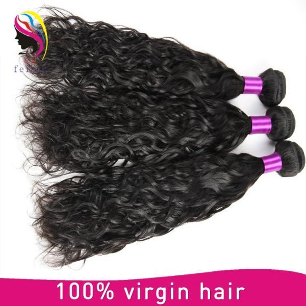 brazilian human hair weave natural wave hair extension #4 image