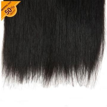 300g/3bundles Straight Hair 1# Virgin 7A Brazilian Real Human Extention Weaves