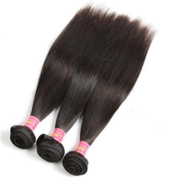 "8A Brazilian Straight Virgin Remy Hair 3Pcs Unprocessed Mink Hair Weave10+12+14"""