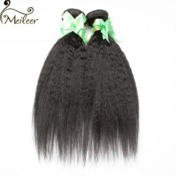 3Bundle 150G Kinky Straight Hair Yaki Human Hair Extension Brazilian Virgin Hair
