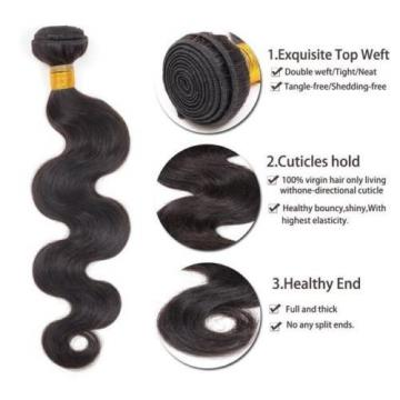 1Bundle/lot 50g Virgin Brazilian Human Hair Extensions Body Wave Hair Weave