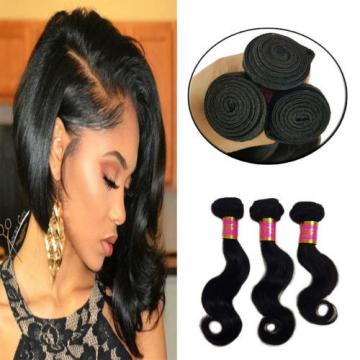 3 Bundles 150g 100%  Brazilian Body Wave Virgin Hair Weft Human Hair Bundles 8A