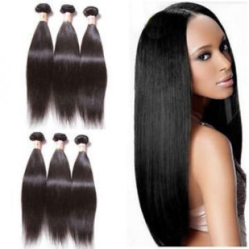 "10"" 3 Bundles100% Virgin Hair Brazilian Straight Human Hair Weave Extensions150g"