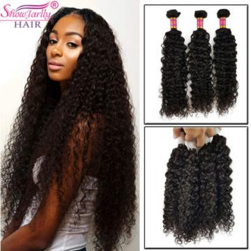 Grade 8A 3 Bundles 150g 100%  Brazilian Curly Wave Virgin Hair Weft Hair Bundles