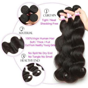 3 bundles 300g Brazilian Peruvian Human Hair Weaves Virgin Body Wave Hair Weft