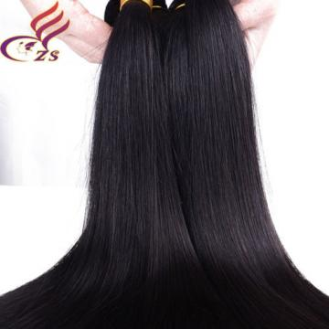 1 Bundle 100% Virgin Brazilian Straight Hair Extension Human Unprocessed Weave