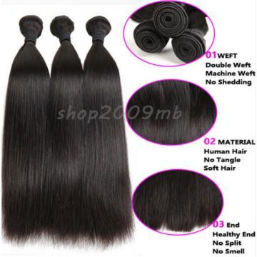 8A 1 Bundle 100% Remy Virgin Brazilian Human Hair Extensions Weft Straight Hair
