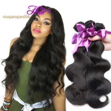 4Bundles 200g 100% Peruvian Brazilian Human Virgin Hair Body Wave Weave Weft