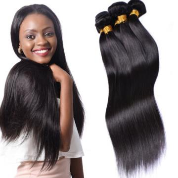 4 bundles Brazilian Virgin Remy hair Straight Human Hair Weave Extensions 200g