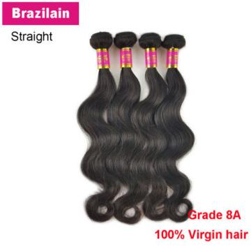 4 Bundles 200g 100% Brazilian Body Wave Virgin Hair Weft Striaght Body Wave 8A