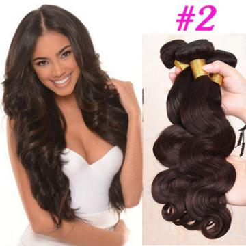 2# 4# Brown Color Brazilian Virgin Hair Body Wave 3 Bundles Human Hair Weft 7A