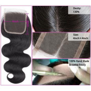 8a Body Wave Hair Lace Closure Brazilian Virgin Hair Lace Closure Human Hair
