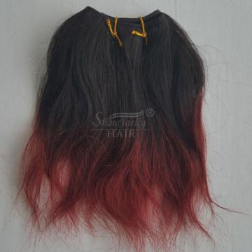 "6"" Ombre 100% Brazilian Natural Wave Virgin Hair Weft Human Wavy Hair Bundles 8A"