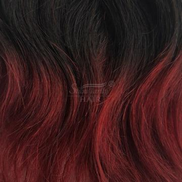 "6"" Ombre 100% Brazilian Natural Wave Virgin Hair Weft Human Wavy Hair Bundles 8A"