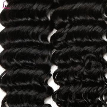 7A Brazilian Human Virgin Hair Deep Curly Wave 3 Bundles With 4*4 Lace Closure
