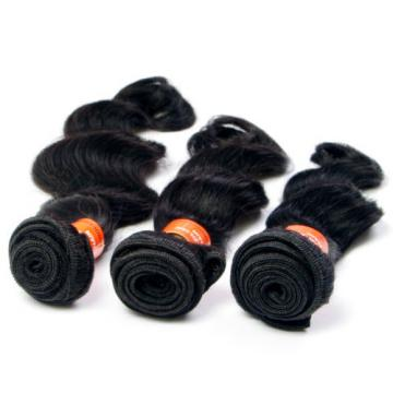 Virgin Brazilian Human Hair Extension Unprocessed Deep Wave Natural Black Hair