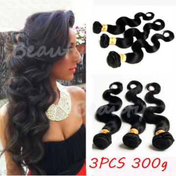 Brazilian 7A Virgin Human Hair 100% Unprocessed Body Wave Hair 3 Bundles/300g