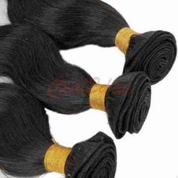 "10"" 3 Bundles Brazilian Virgin Body Wave Weave Weft 100% Human Hair Wavy 50g/pc"
