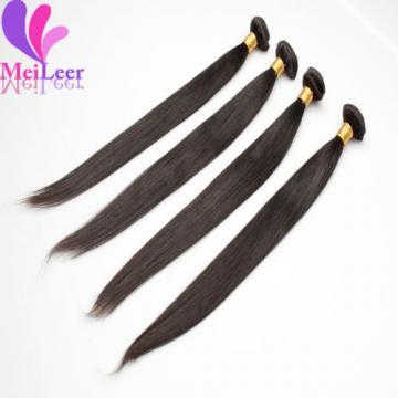 Straight Brazilian 4 Bundles/200g Real Human Hair Extensions 100% Virgin Weaves