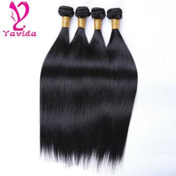 US STOCK Virgin Brazilian Straight Human Hair Extensions 400g/4bundles Long Inch