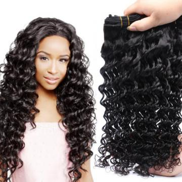 4 Bundles/200g 100% Unprocessed Brazilian Virgin Deep Wave Human Hair Weave 7A