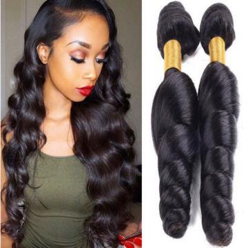 3 Bundles Brazilian Loose Wave Hair Weft 100% Virgin Human Hair Extensions Weave