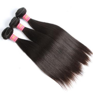 Mink Brazilian Virgin Hair Straight Human Hair Weave 3 Bundles unprocessed Hair