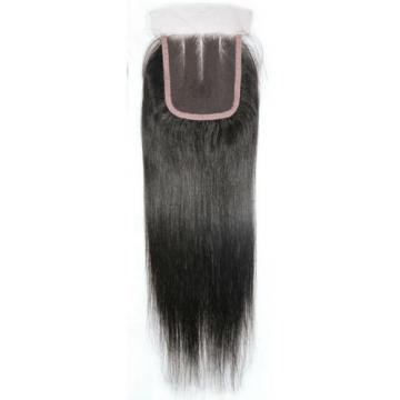 """10"""" Lace Closure Three Part Straight Brazilian Virgin Human Remy Hair Extensions"""