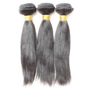 300g Bundle Brazilian Virgin Human Ramy Hair Extensions Weaving Weft Straight 7A