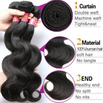 Brazilian Virgin Body Wave Weave Weft 100% Human Hair Body Wavy 3 Bundles/150g