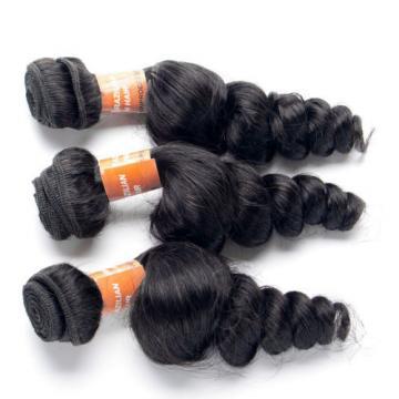 6A 4 Bundles Brazilian Human Hair Weave Virgin Loose Wave Hair Extension Weft
