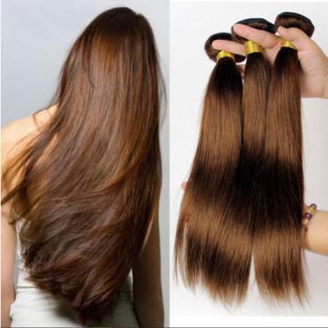 "1 Bundle 18"" 100% Brazilian Remy Virgin Human Hair Extensions Wefts Colour #4"