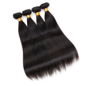 100% Unprocessed Brazilian Virgin Hair Extensions Weave Straight 4 Bundles 200g
