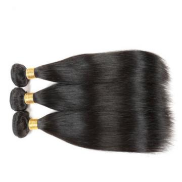 """3PCS 10"""" 8A Virgin Hair Straight Human Hair Weave Bundles Brazilian Hair 150g"""