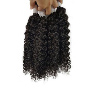 3 Bundles 150g 100% Brazilian Curly Wave Virgin Hair Weft Bundles Hair Weave 8A