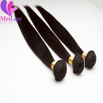 3 Bundles Straight Brazilian Virgin Real Human hair Extensions Weave Unpocessed