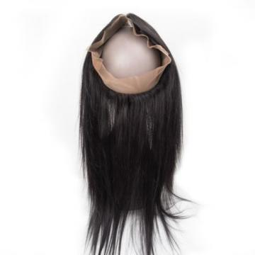360 Lace Frontal Closure with 3 Bundle Brazilian Virgin Straight Human Hair Weft