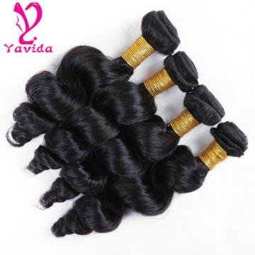 7A Brazilian Virgin Hair Weave Loose Wave Human Hair Extensions 4 Bundles 400g