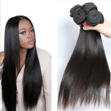3 Bundles Brazilian Virgin Straight Human Hair Weave 8A Remy Hair Extensions