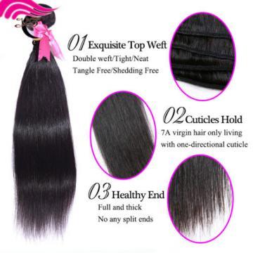 One Bundles 50g Unprocessed Virgin Brazilian Human Straight Hair Weave Extension