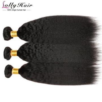 3Bundle Italian Yaki Brazilian Virgin Kinky Straight Human Hair Weave Human Hair