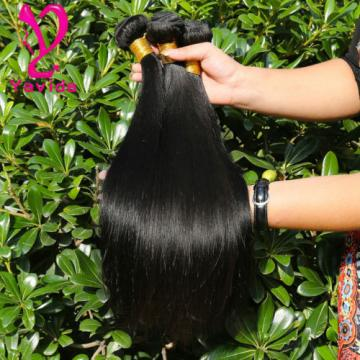 7A 100% Brazilian Straight Virgin Hair Weft Human Hair Weave 3 Bundles 300g