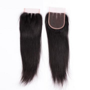 4*4 inch Brazilian Virgin Hair Lace Closures 1B Straight Top Closure Hair Piece